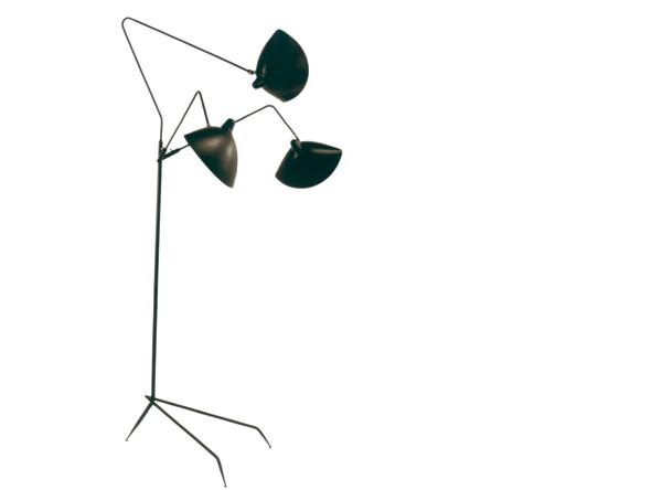 Serge mouille lampadaire 3 bras design lausanne suisse - Lampadaire serge mouille ...