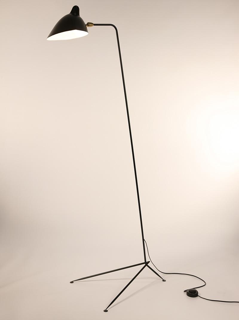 Serge mouille lampadaire droit design lausanne suisse - Lampadaire serge mouille ...