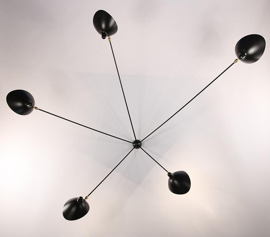 serge mouille applique araign e 5 bras lausanne suisse. Black Bedroom Furniture Sets. Home Design Ideas