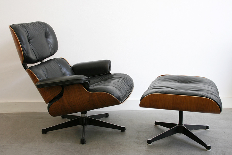 Fauteuil lounge chair avec ottoman, Charles Ray Eames, Herman Miller ...