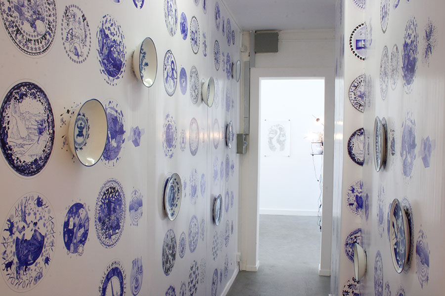 Vue de l'exposition, Martin Hyde