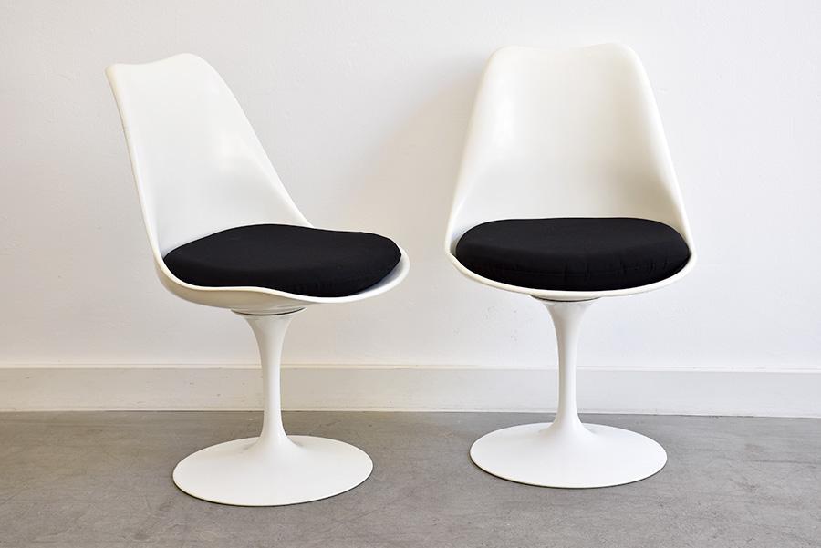 saarinen 5 chaises tulipe knoll vintage lausanne. Black Bedroom Furniture Sets. Home Design Ideas