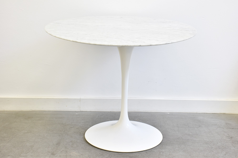 Tulip Table Marble Eero Saarinen Knoll Vintage