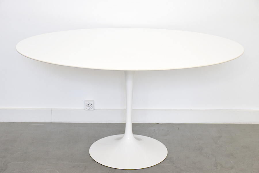 Saarinen table tulipe ovale 137 cm knoll mobilier - Saarinen table ovale ...