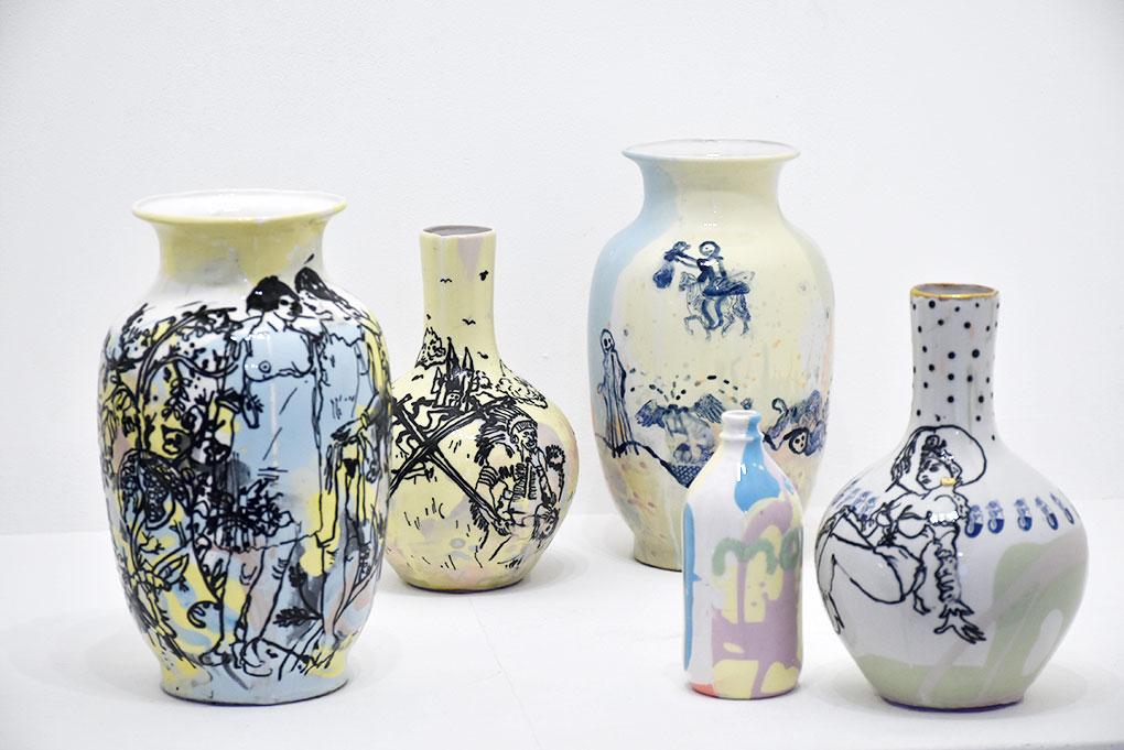 Vases en porcelaine, Martin Hyde