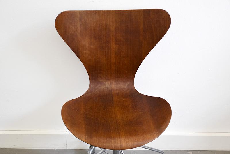 Chaise de bureau Série 7 (Butterfly) en teck, Arne Jacobsen pour Fritz Hansen, 1955