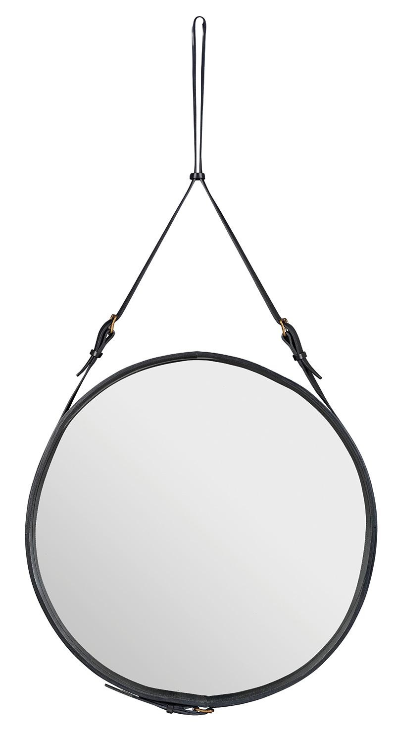 Spiegel Circulaire, L schwarz, Jacques Adnet, Gubi