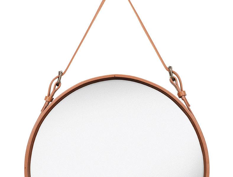 deux miroirs circulaire M cognac, Jacques Adnet, Gubi
