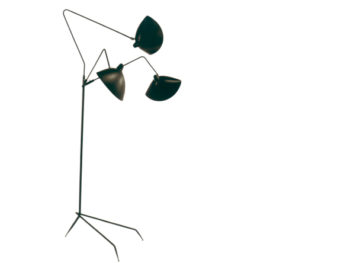 Stehlampe Lampadaire trois bras, Serge Mouille