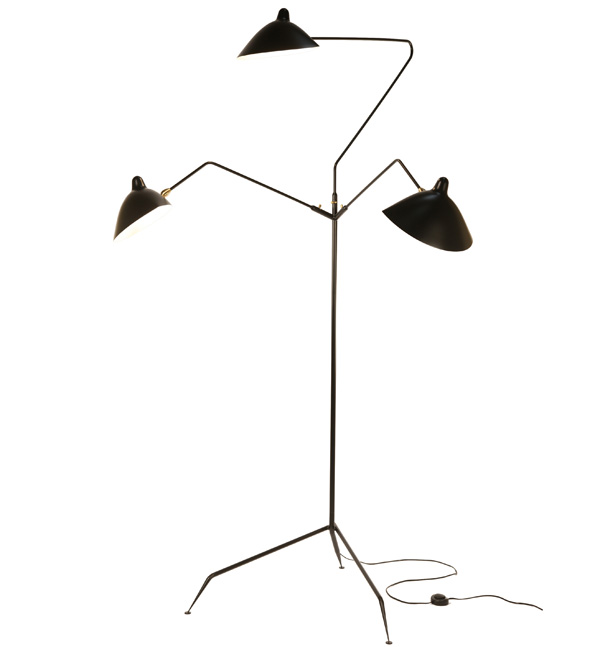 Standing lamp 3 arms, Serge Mouille