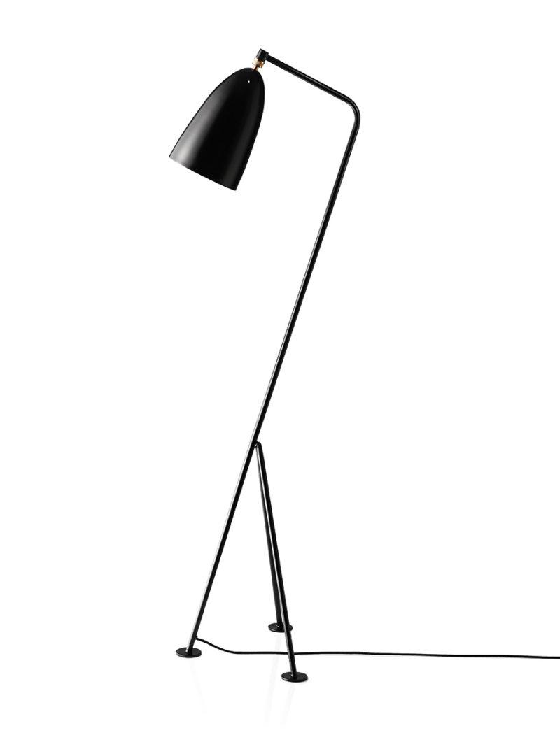 Grasshopper floor light, black, Greta Grossman, Gubi
