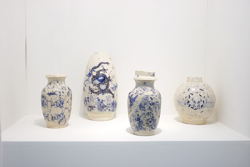 Martin Hyde, Vases True Blue, 2014