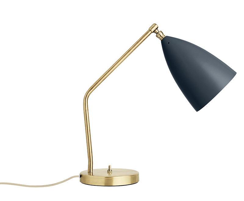 Grasshopper table light, anthracite grey, Greta Grossman, Gubi