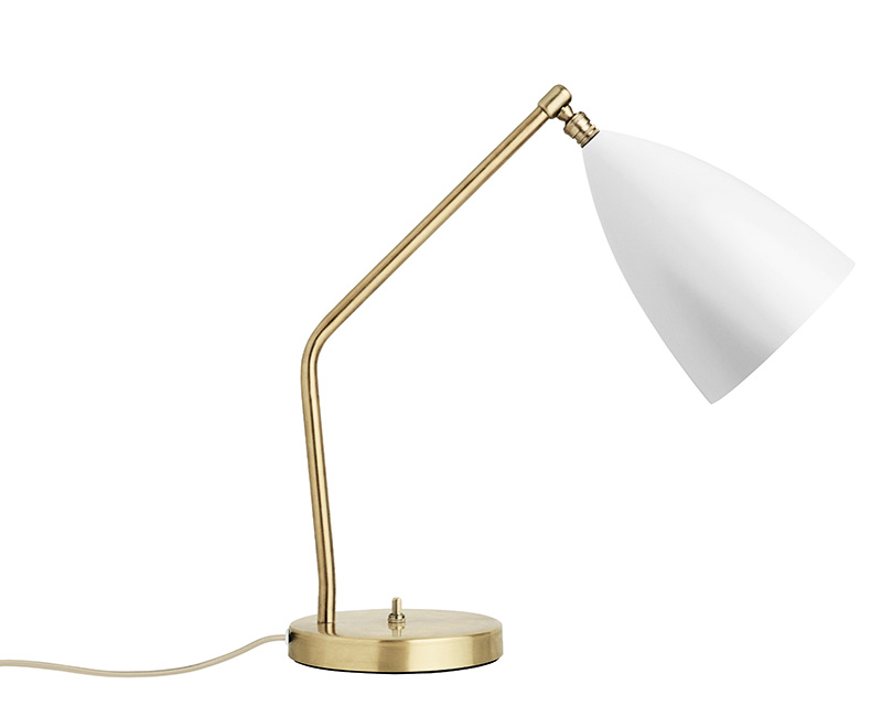 Grasshopper table light, matt white, Greta Grossman, Gubi