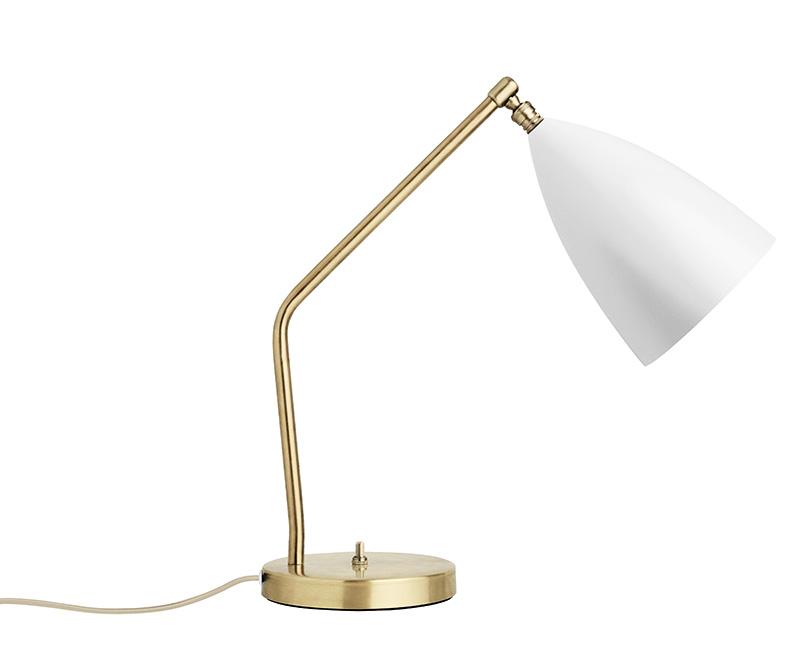 Lampe de table Grasshopper, blanc, Greta Grossman, Gubi