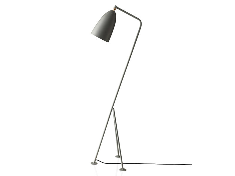 Grasshopper floor light, blue grey, Greta Grossman, Gubi