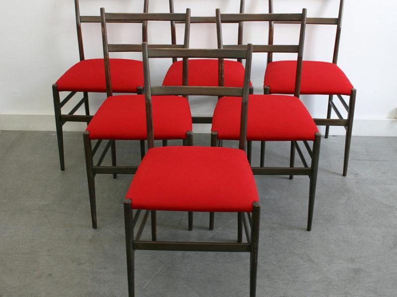 6 chaises Leggera, Gio Ponti, Cassina