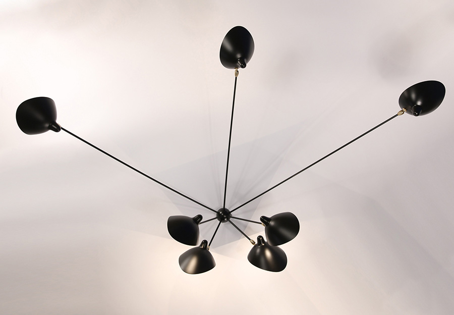 Serge mouille wall light spider 7 arms lausanne switzerland