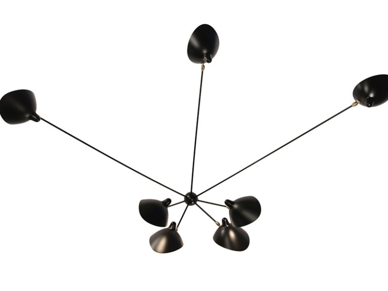 Wall light spider 7 arms, serge mouille