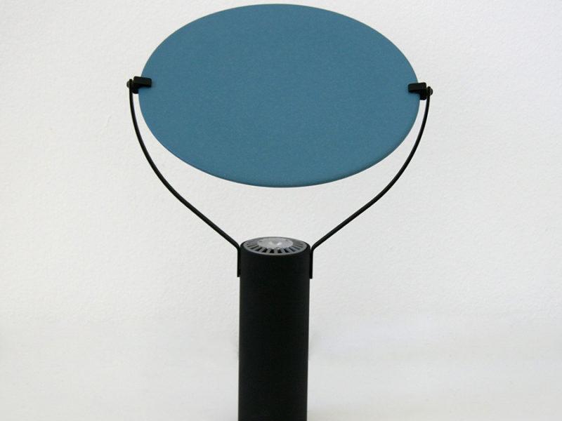 Tischleuchte L'assiette, blau, Béatrice Durandard