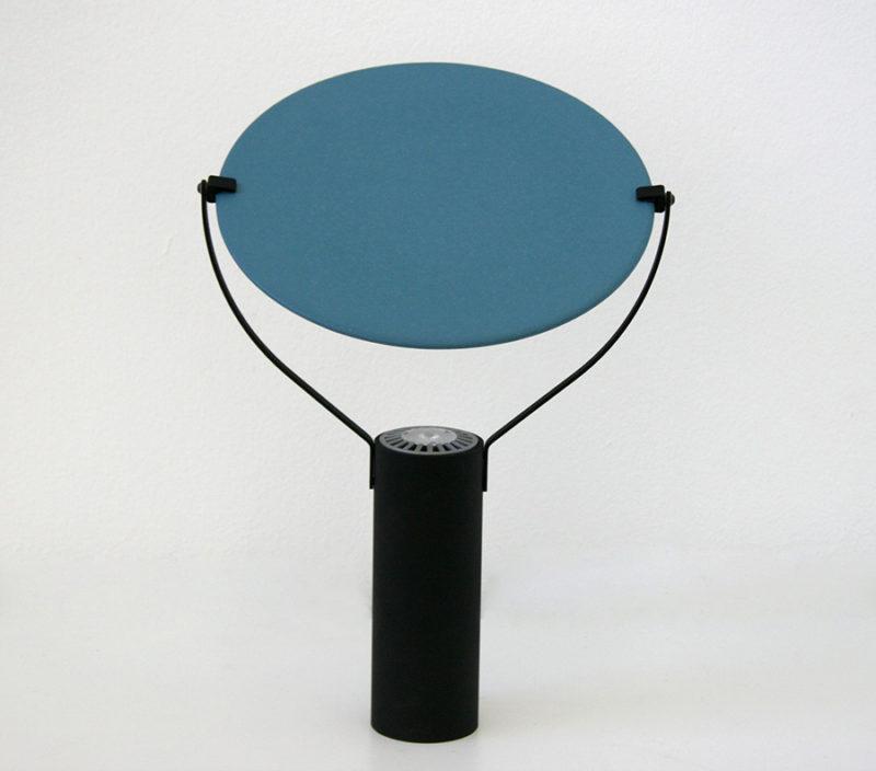 Lampe L'assiette, bleu, Béatrice Durandard