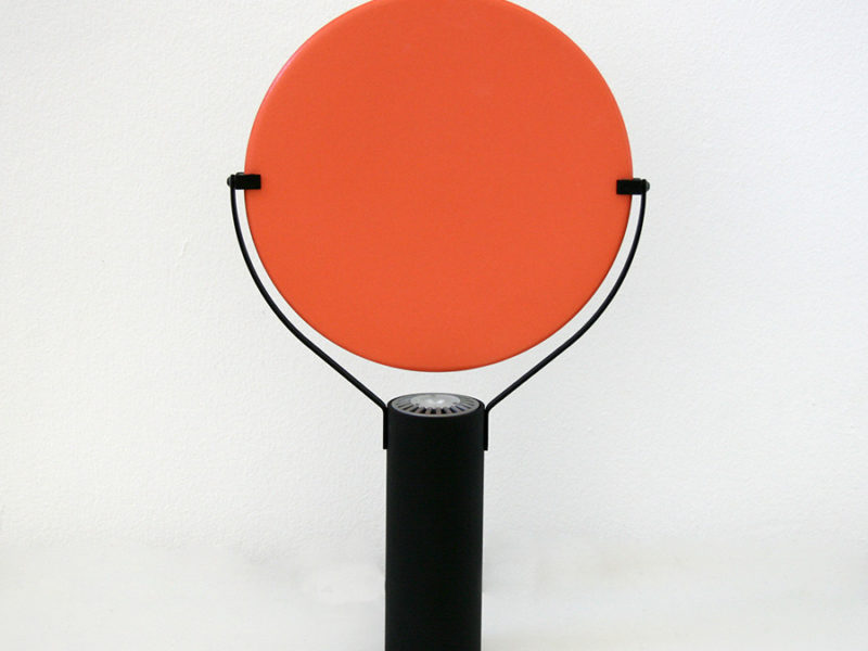 Lampe L'assiette, orange, Béatrice Durandard