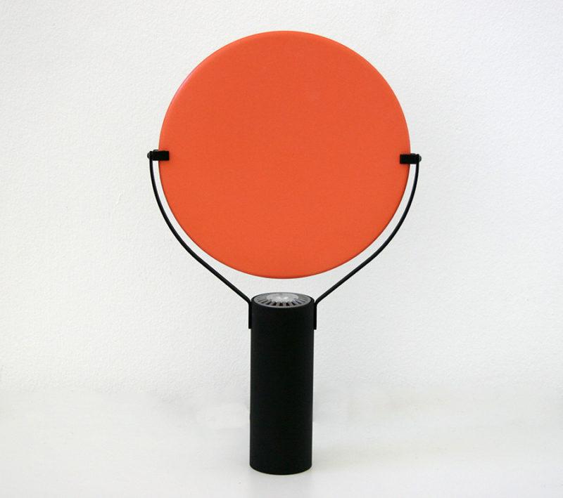 Lampe L'assiette, orange, Béatrice Durandard