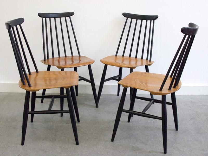 4 chaises Fanett, Ilmari Tapiovaara, Edsby-Verken
