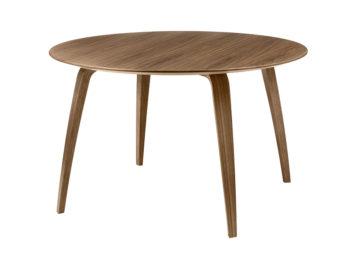 Table ronde GUBI, noyer, Komplot Design