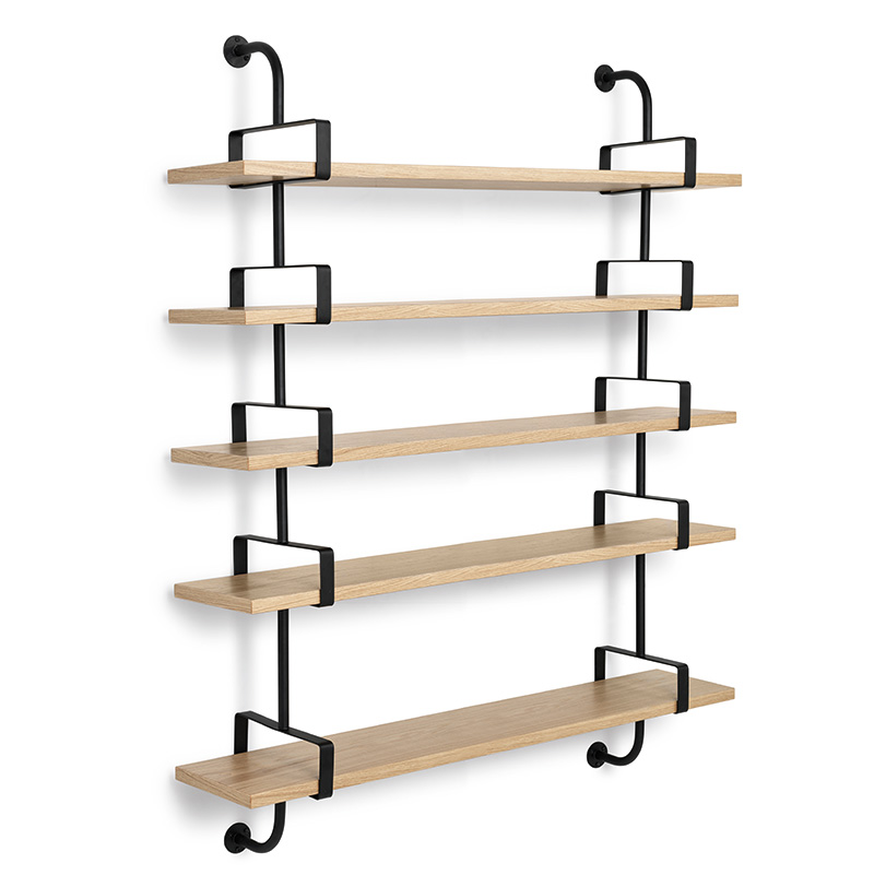 Demon shelves, 5 shelves, 155 cm, oak, Mathieu Matégot, Gubi