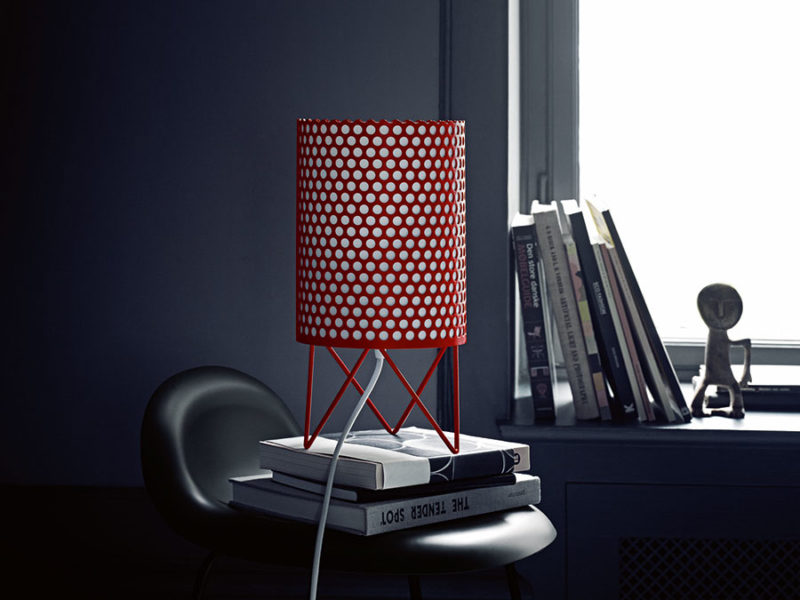 Table lamp Pedrera ABC, red, Barba Corsini, Gubi