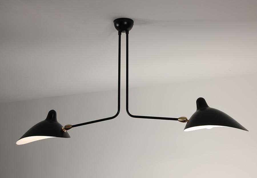 serge mouille suspension 2 bras fixes lausanne suisse. Black Bedroom Furniture Sets. Home Design Ideas