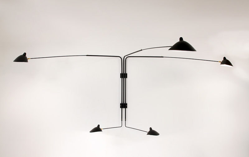Rotating sconce 5 arms, Serge Mouille