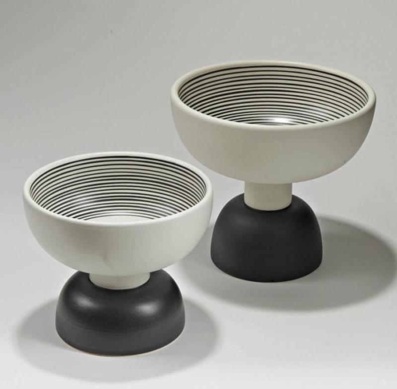 Alzata 500 & 501 bowl, Ettore Sottsass, Bitossi ceramic