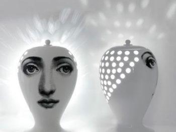Lampe Lanterna Buona Notte, Fornasetti, Bitossi