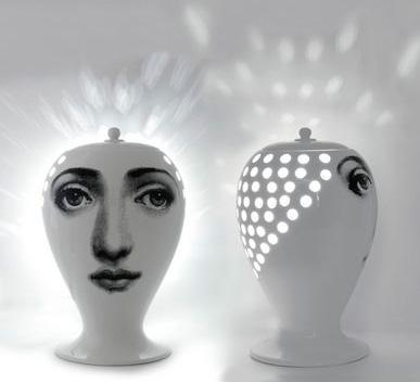 Lamp Lanterna Buona Notte, Fornasetti, Bitossi