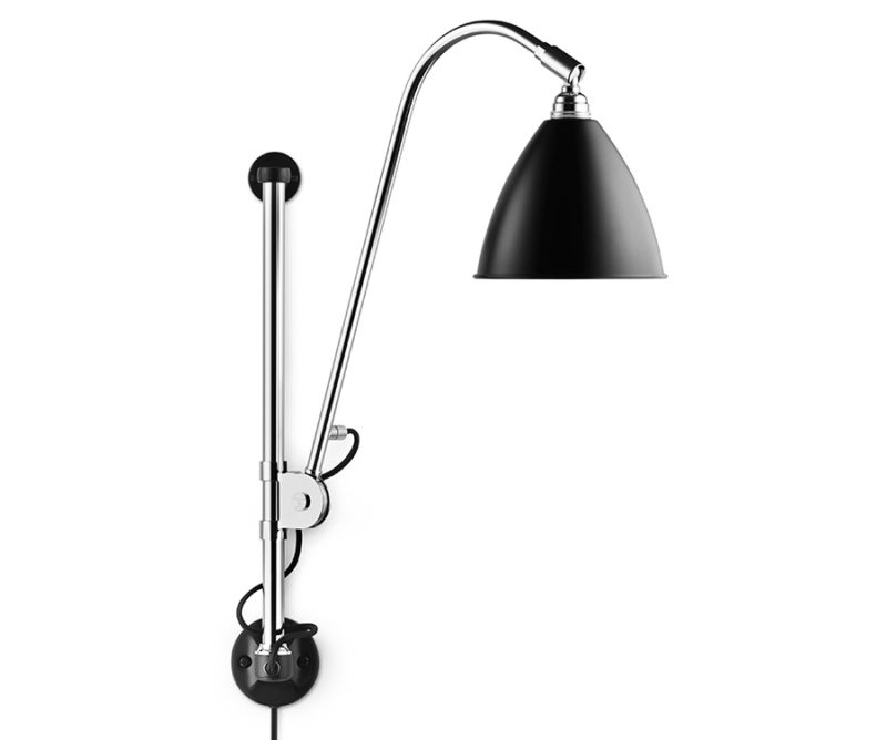 Wall light BL5, chrome with black shade, Bestlite, Gubi