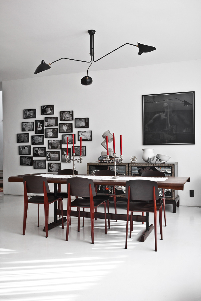 serge mouille deckenleuchte mit 3 schwenkbaren armen lausanne schweiz. Black Bedroom Furniture Sets. Home Design Ideas