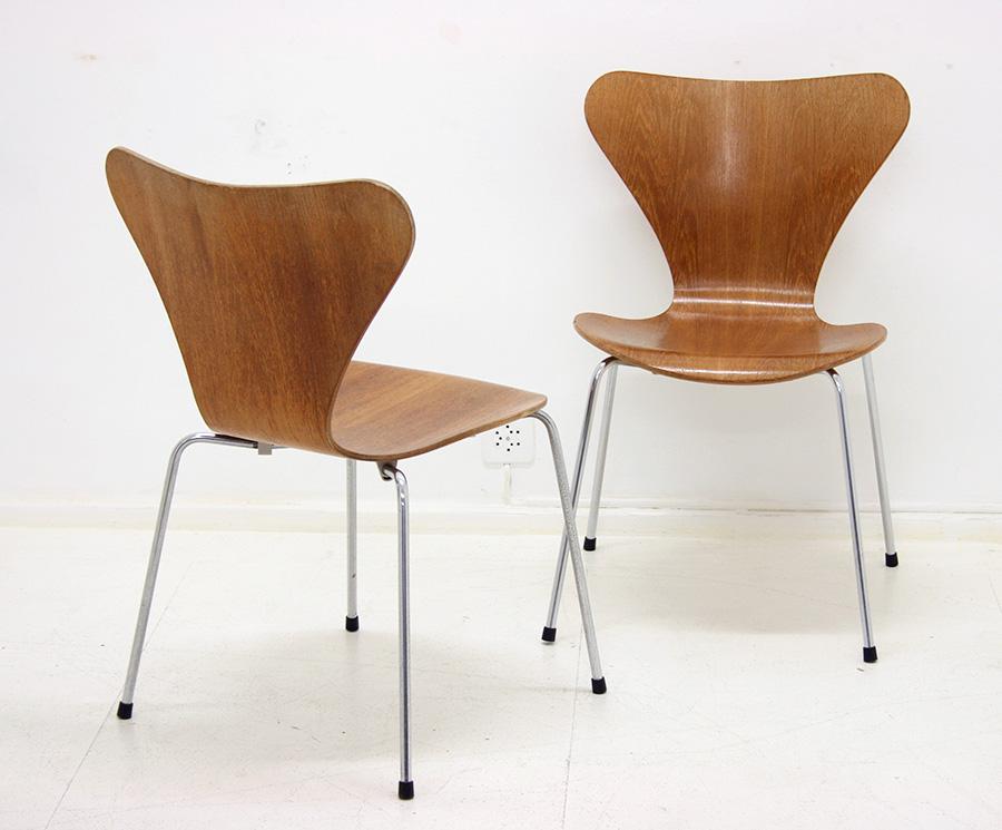 vintage serie 7 st hle arne jacobsen fritz hansen designklassiker. Black Bedroom Furniture Sets. Home Design Ideas