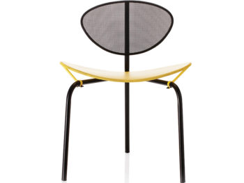 Chaise Nagasaki noir et jaune, Mathieu Matégot, Gubi