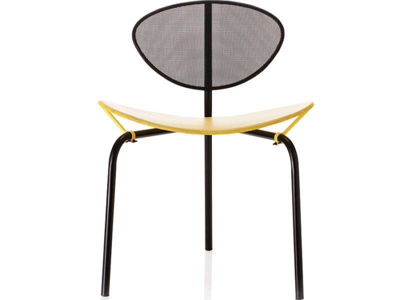 Nagasaki chair, black and yellow, Mathieu Matégot, Gubi
