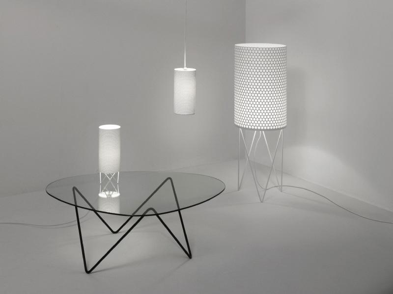 Pedrera collection, Floor lamp, table light , pendant and table, Barba Corsini, Gubi