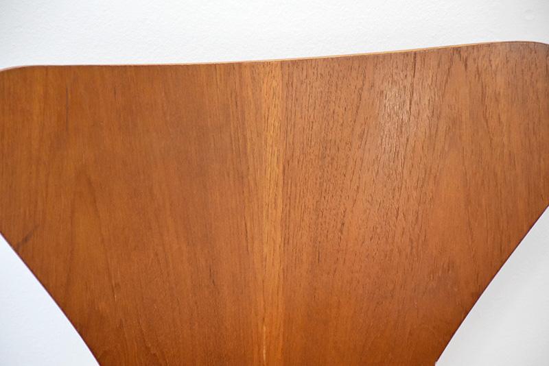 4 chaises Serie 7 en teck, Arne Jacobsen, Fritz Hansen, 1955