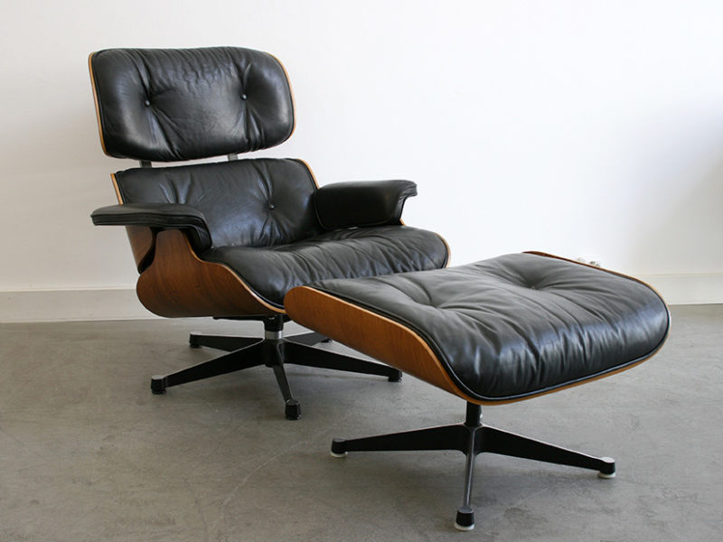 Fauteuil lounge chair avec ottoman, Charles Ray Eames, Herman Miller, Vitra