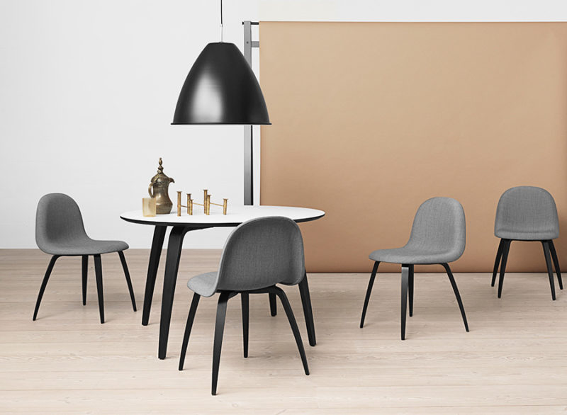 Gubi chairs and table, Komplot Design