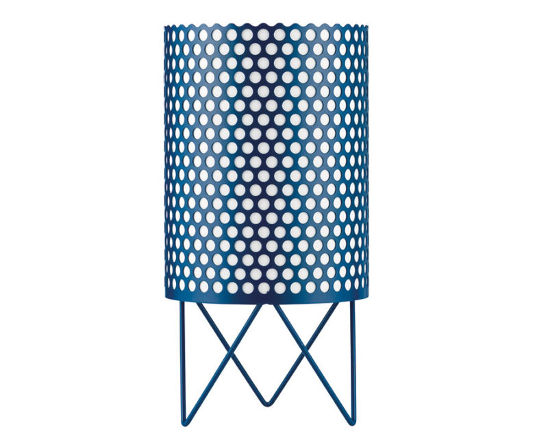 Table lamp Pedrera ABC, blue, Barba Corsini, Gubi