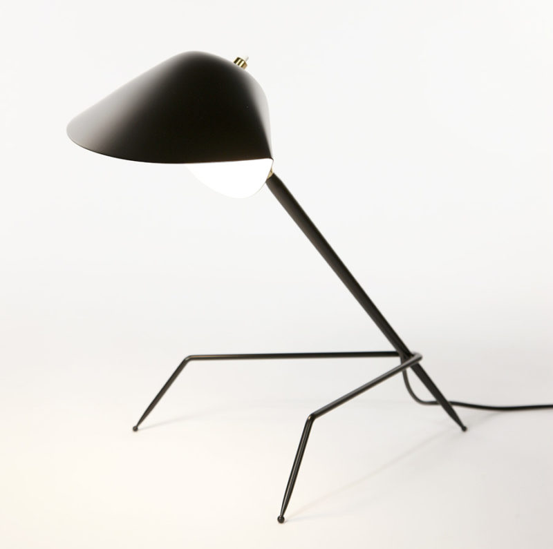 Lampe de table tripode, Serge Mouille