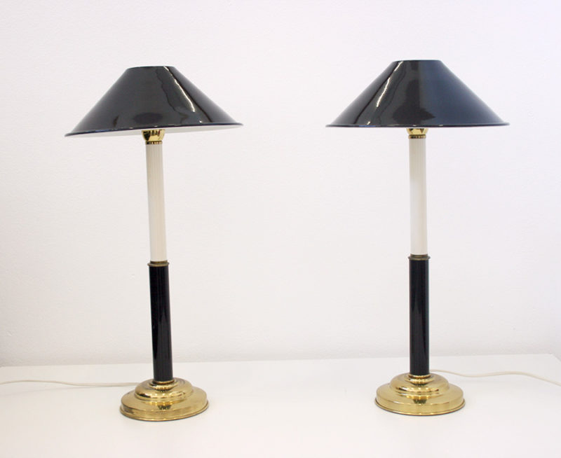 Pair of vintage lamps, Tommaso Barbi