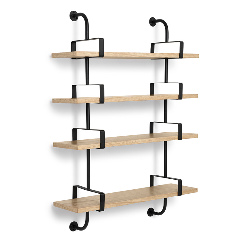 Demon shelves, 4 shelves, 95 cm, oak, Mathieu Matégot, Gubi