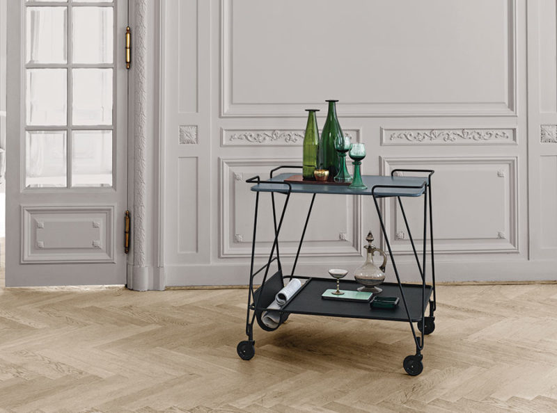 Trolley, Matégot, Gubi, blue grey